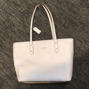 Coach white tote bag